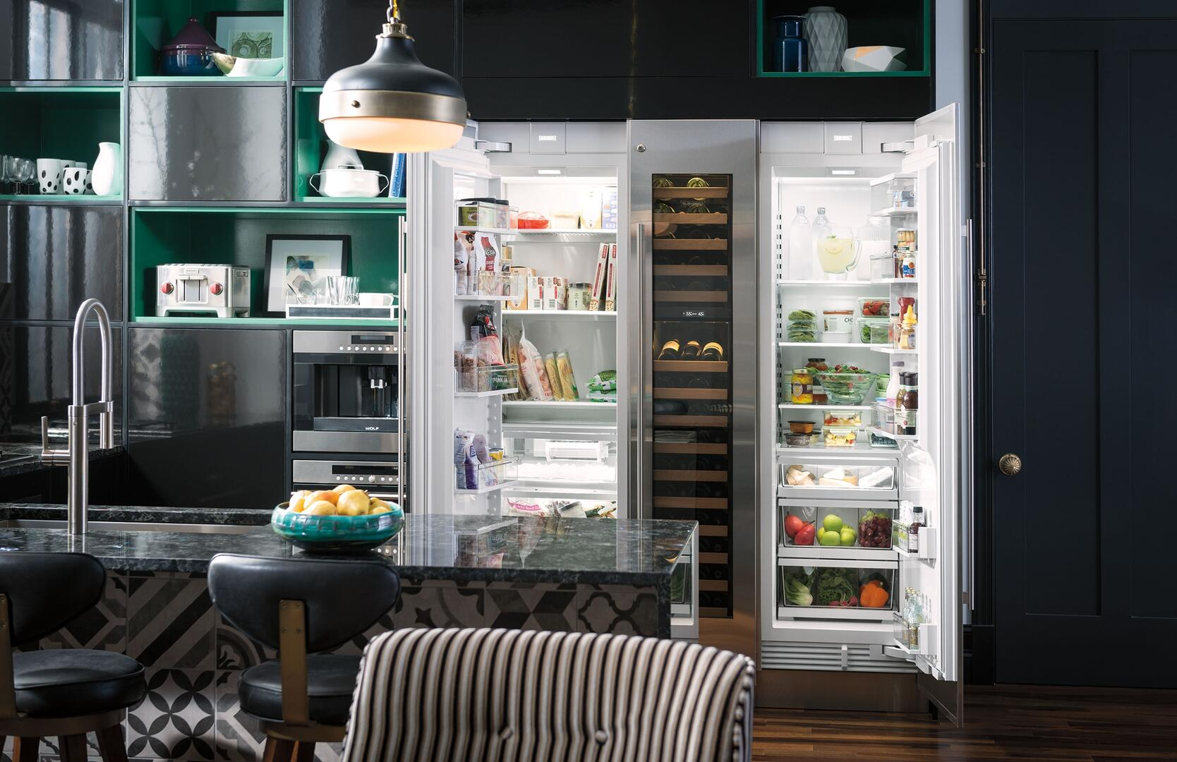 Sub zero counter depth refrigerator -  Sub Zero Shown With Matching Units