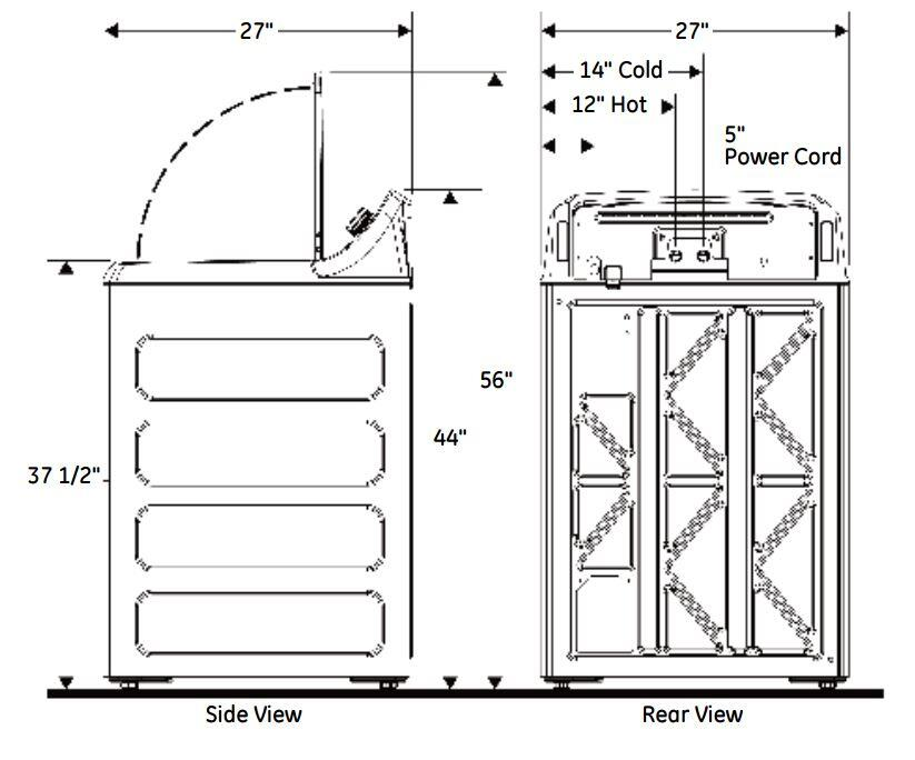 General Electric Washing Machine  Gtw460asjww Ge Washer