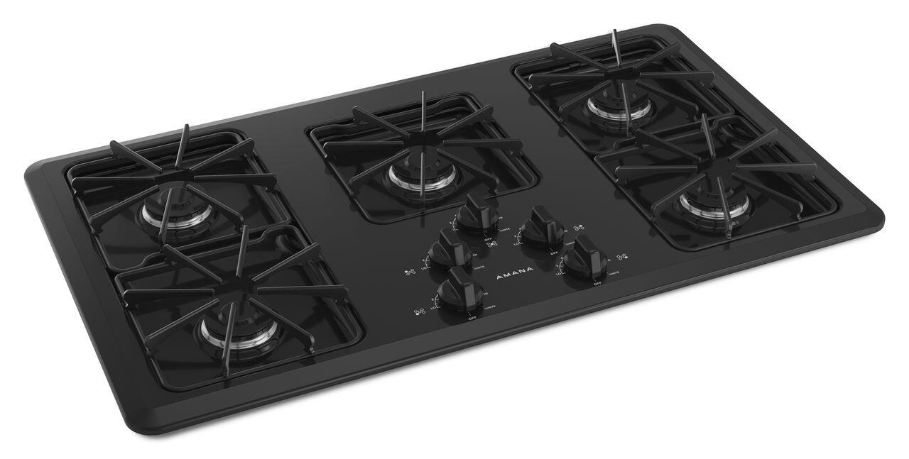 Amana Draft Down Cooktops ~ Amana agc kfb cooktop in black appliances connection