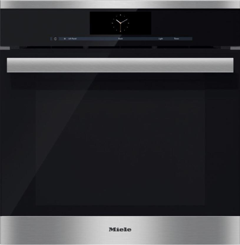miele dgc6860xxl 24 inch single wall oven in clean touch steel appliances connection. Black Bedroom Furniture Sets. Home Design Ideas