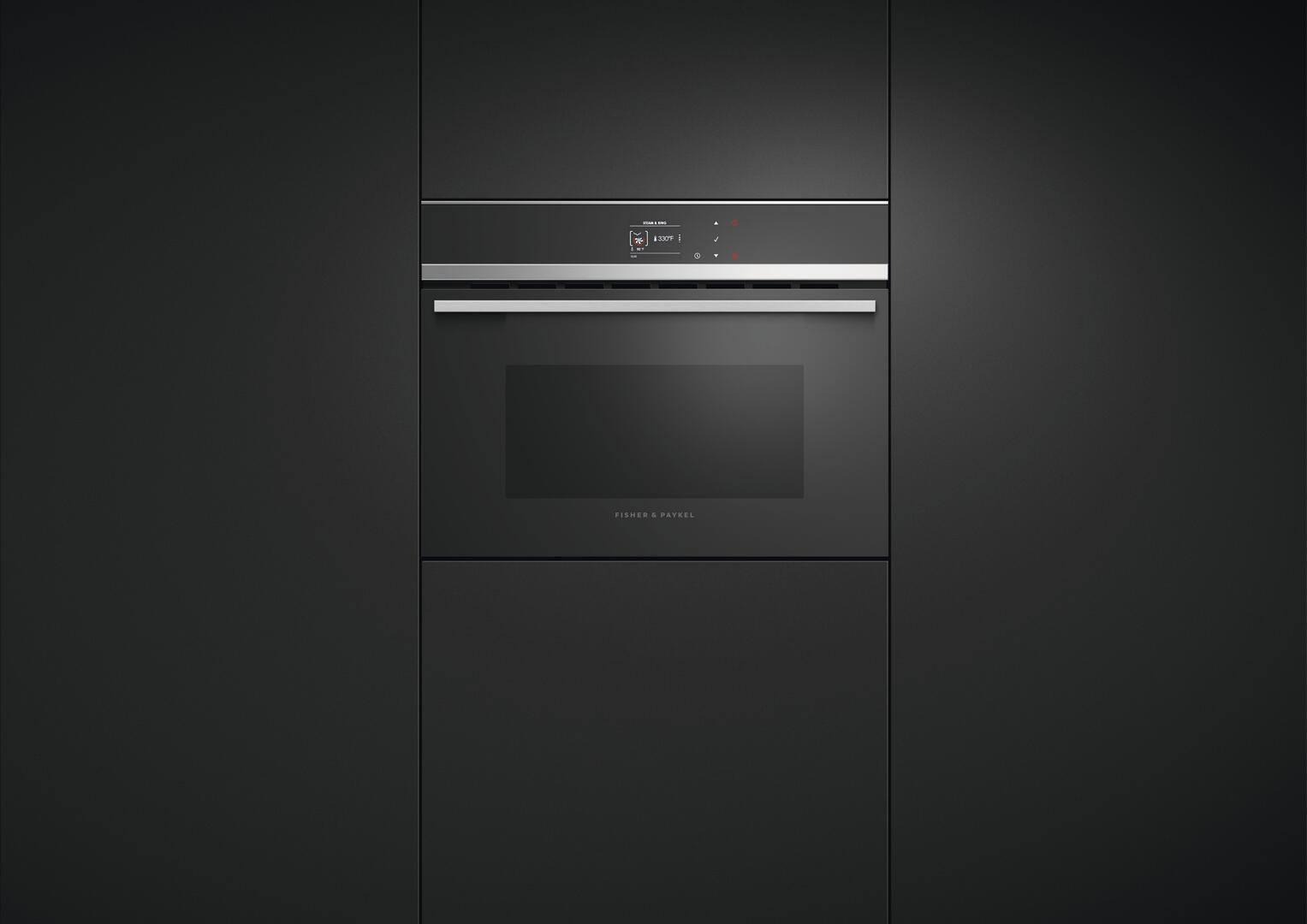 Fisher Paykel OS24NDB1 24 Inch Black Single Wall Oven | Appliances ...