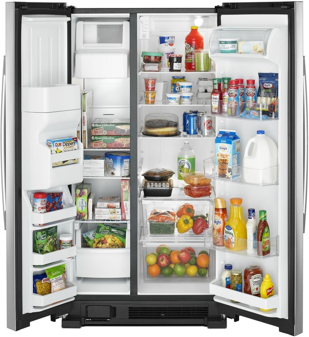 Amana Asi2175grs 33 Inch Stainless Steel Side By Refrigerator Wiring Diagram On Oil Furnace Older Open With Content