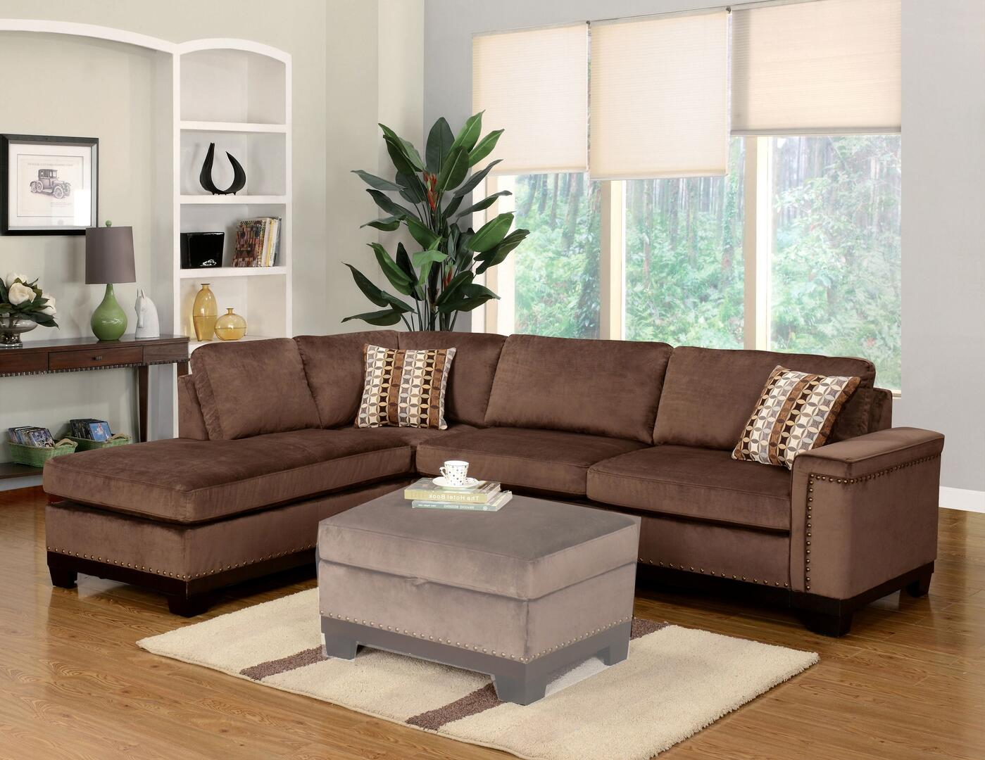 Myco Furniture Op370secbr Opulence Series Sofa And Chaise