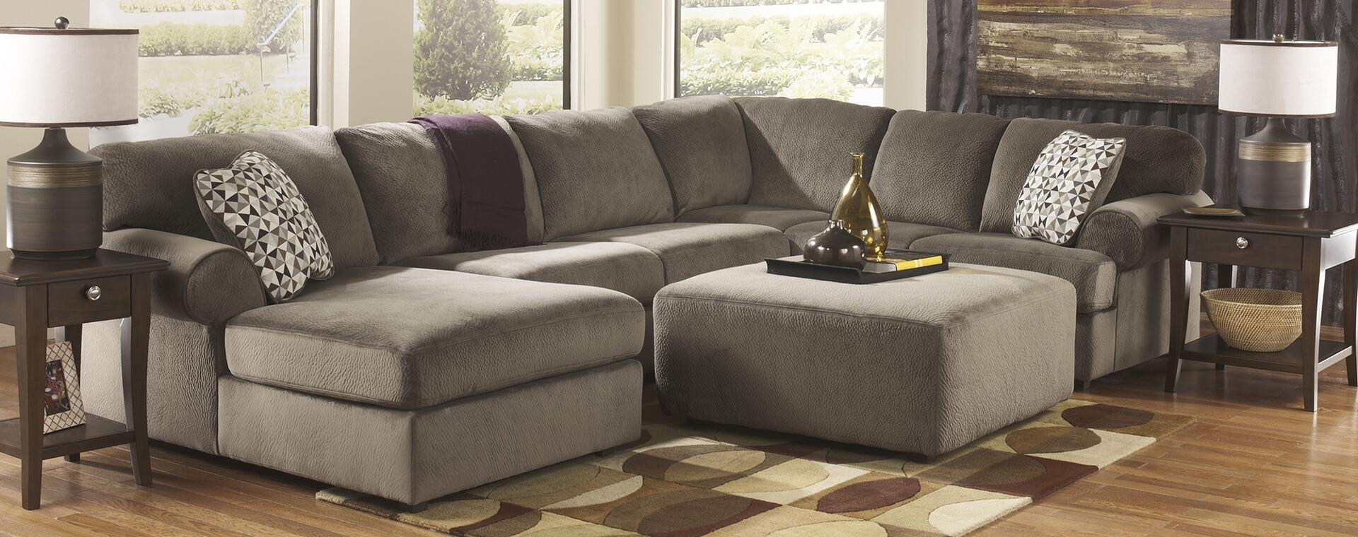 ashley sofa place couch jessa dune sectional furniture brown