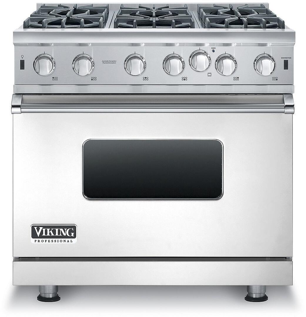 Viking VGIC53616BSS 36 Inch 5 Series Gas Freestanding Range with ...