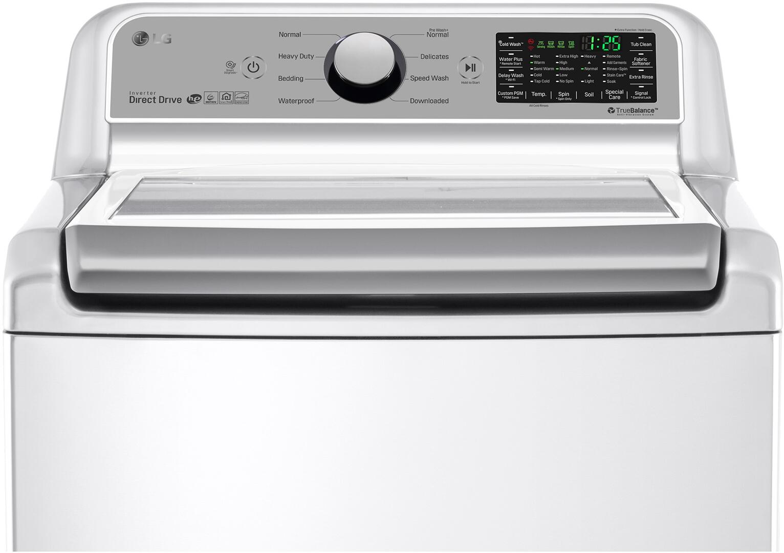 Lg Wt7200cw 27 Inch White 5 Cu Ft Top Load Washer