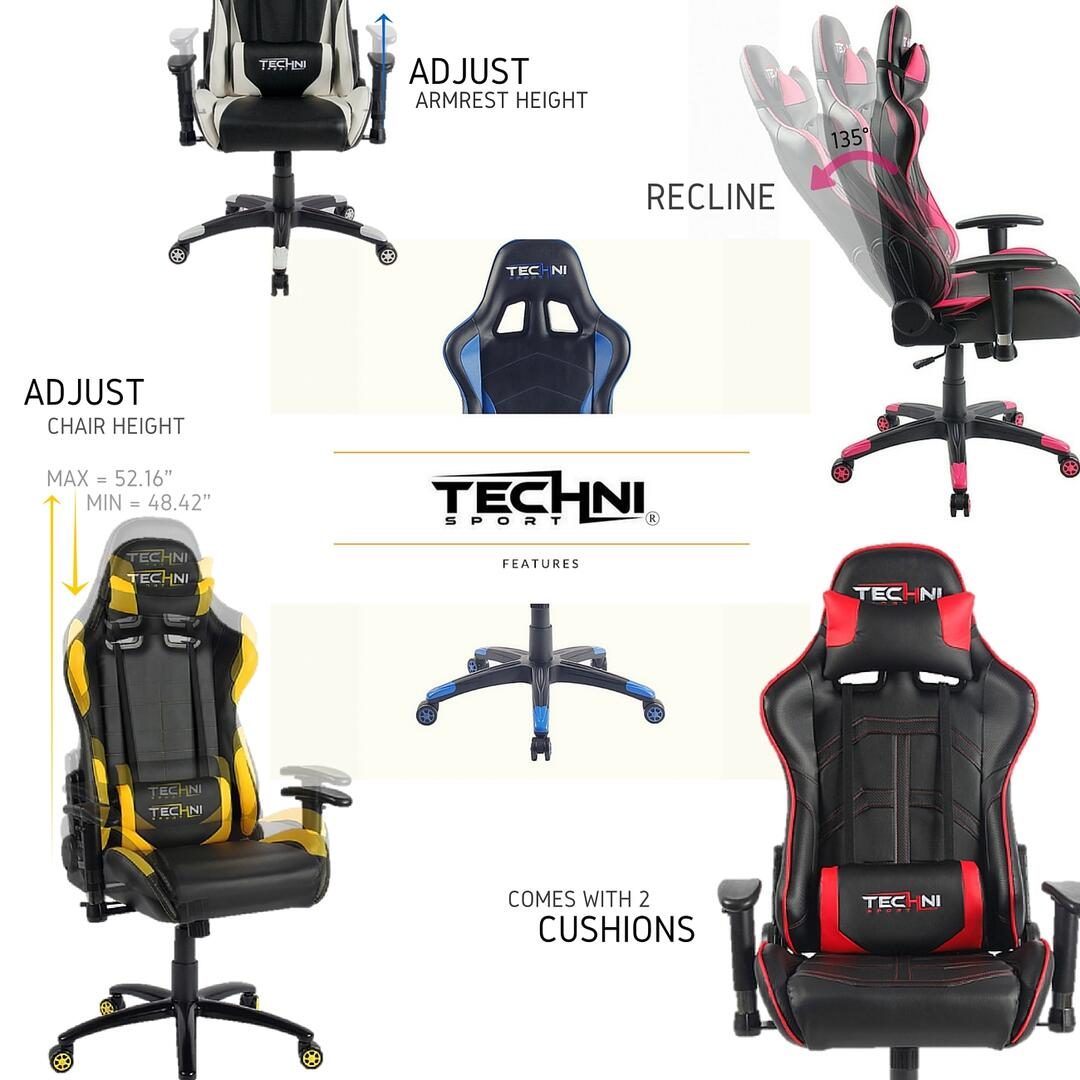 Techni Sport Rtats46wht Gaming Chair Appliances Connection
