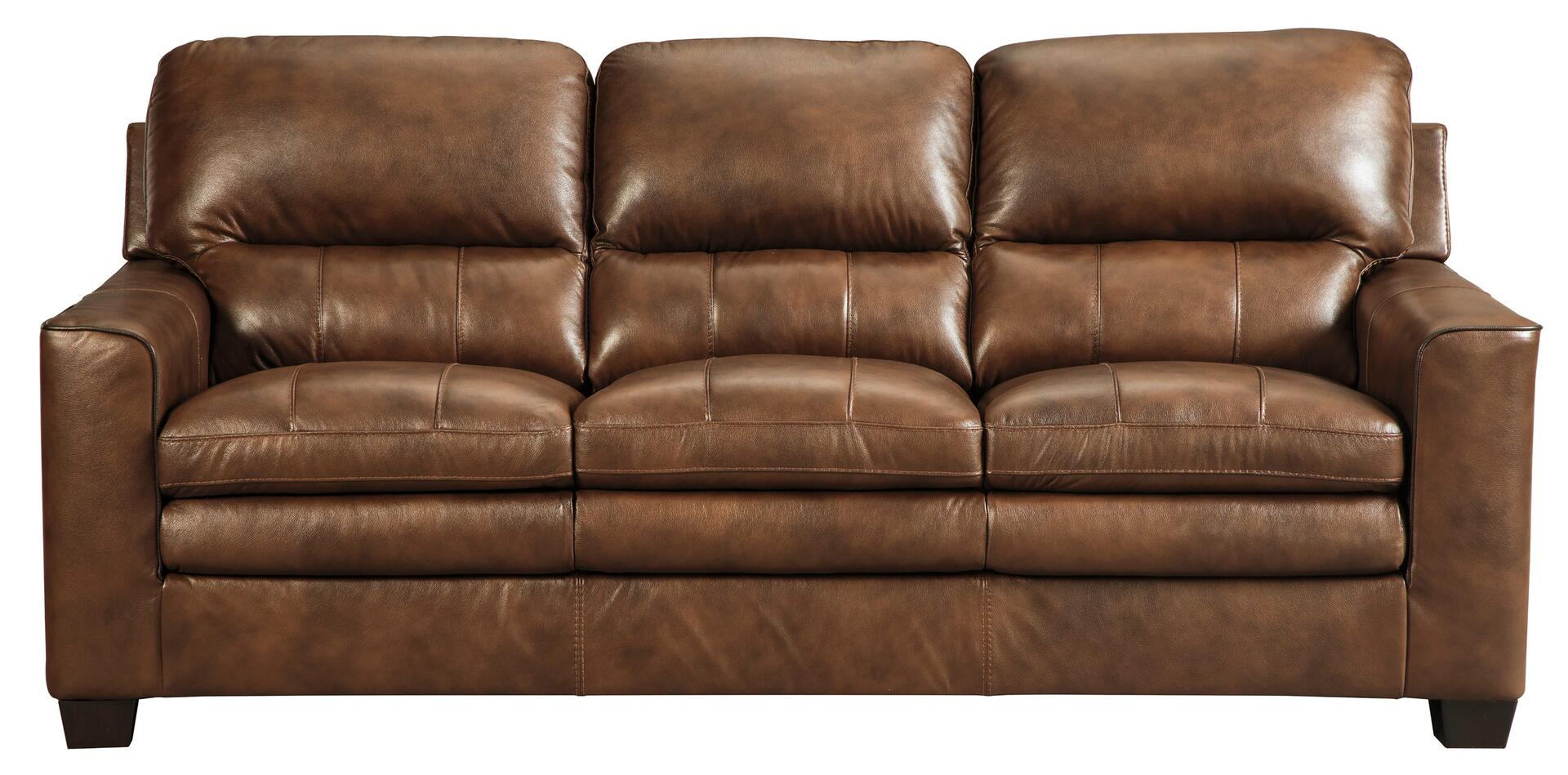 Signature design by ashley 1570338 gleason series leather for Sofa 0 finance