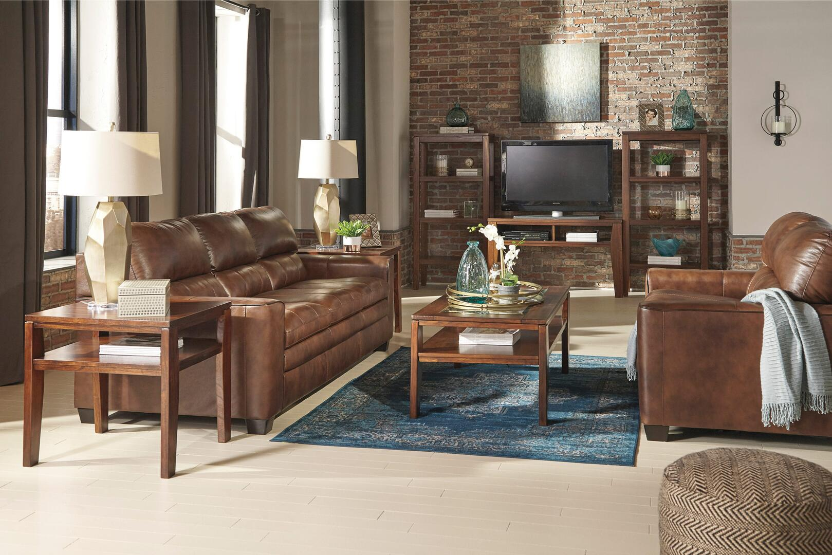 Signature Design By Ashley 1570338 Gleason Series Leather Sofa Appliances Connection