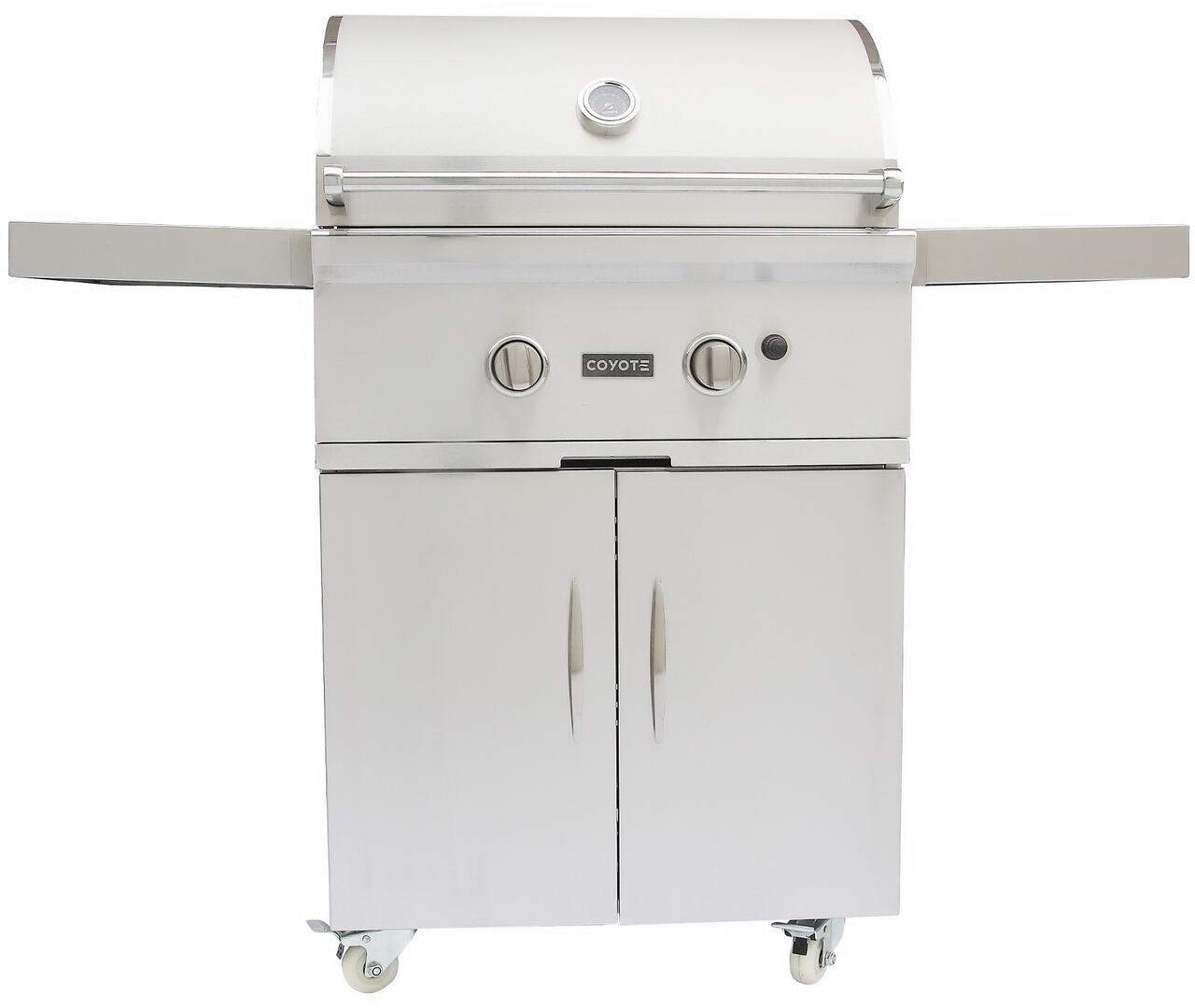 Coyote CCX2NGFS 56 Inch Freestanding Grill, in Stainless Steel ...