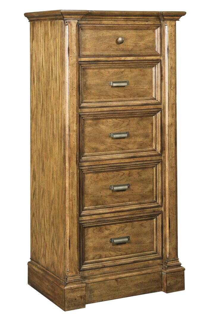 Broyhill New Vintage 480x 243 28 Wide 5 Drawer Lingerie Chest With Antique Colored Hardware