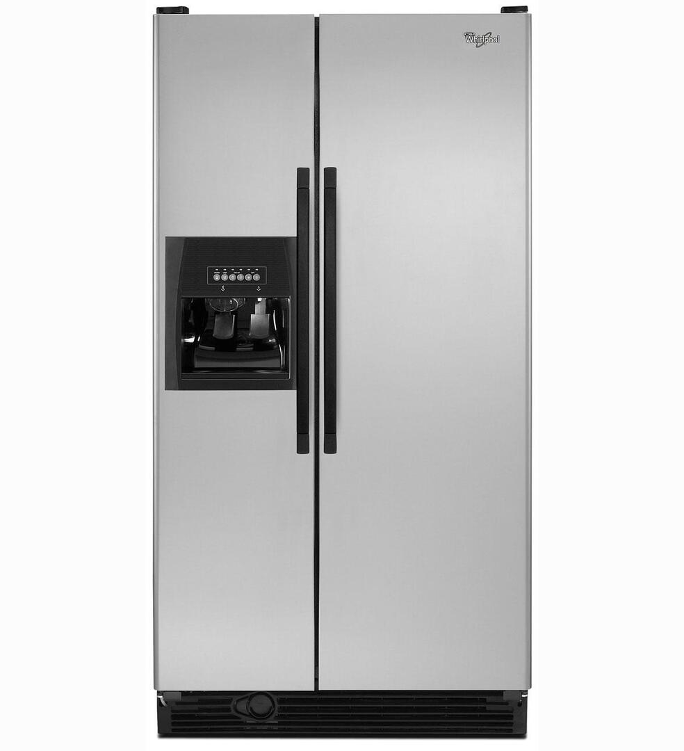 whirlpool ed5kvexvb side by side refrigerator with 25 1 cu ft capacity in black appliances. Black Bedroom Furniture Sets. Home Design Ideas