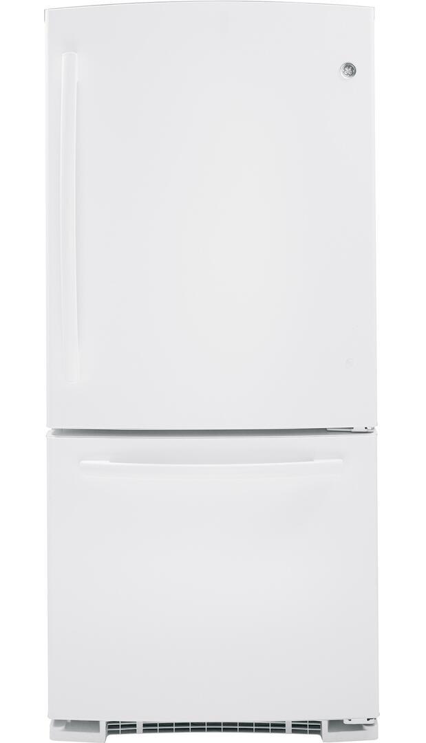 Ge Gbs20eghww 30 Inch Bottom Freezer Refrigerator With 20