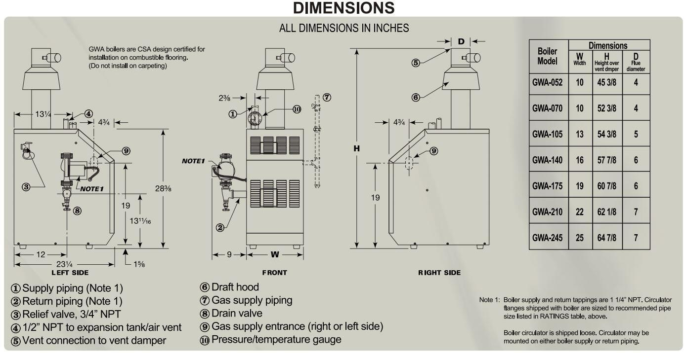Williamson Thermoflo Gwa070nts2 Appliances Connection Gas Boiler Vent Damper Wiring Diagrams Main Image Dimenions Guide