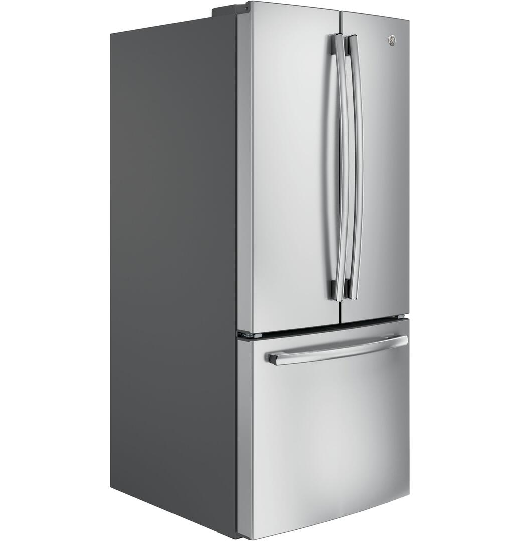 GE GNE21FSKSS 30 Inch French Door Refrigerator with 20.8 cu. ft ...