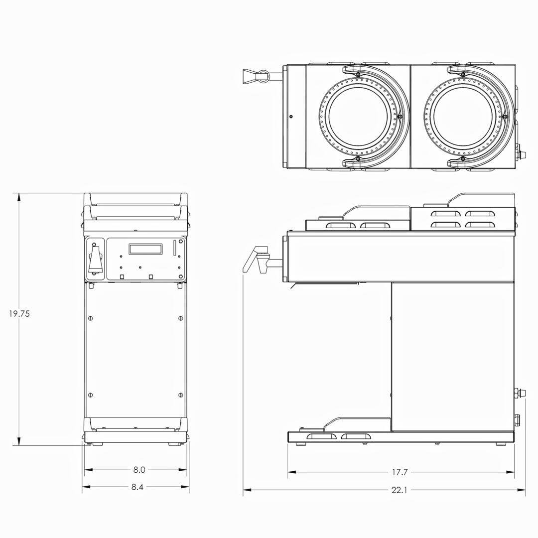 Bunn O Matic 387000080 85 Inch Coffee And Tea Brewing Machine Maker Wiring Diagram