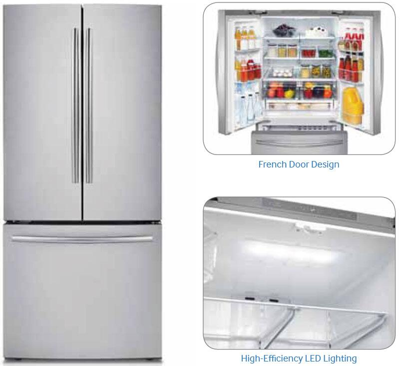 Samsung Appliance Rf220nctaww 30 Inch French Door