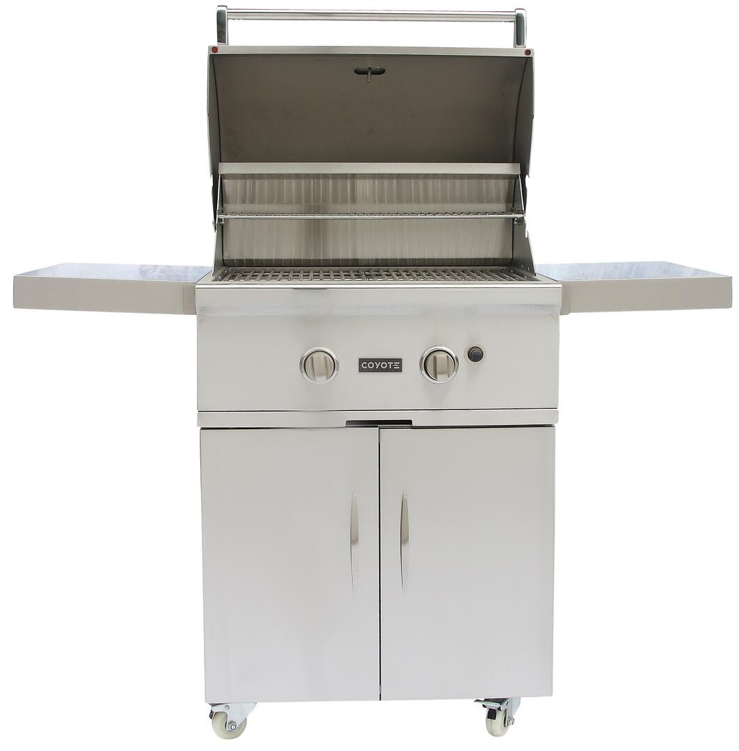 Coyote ccx2ngfs 56 inch freestanding grill in stainless for Coyote outdoor grills reviews