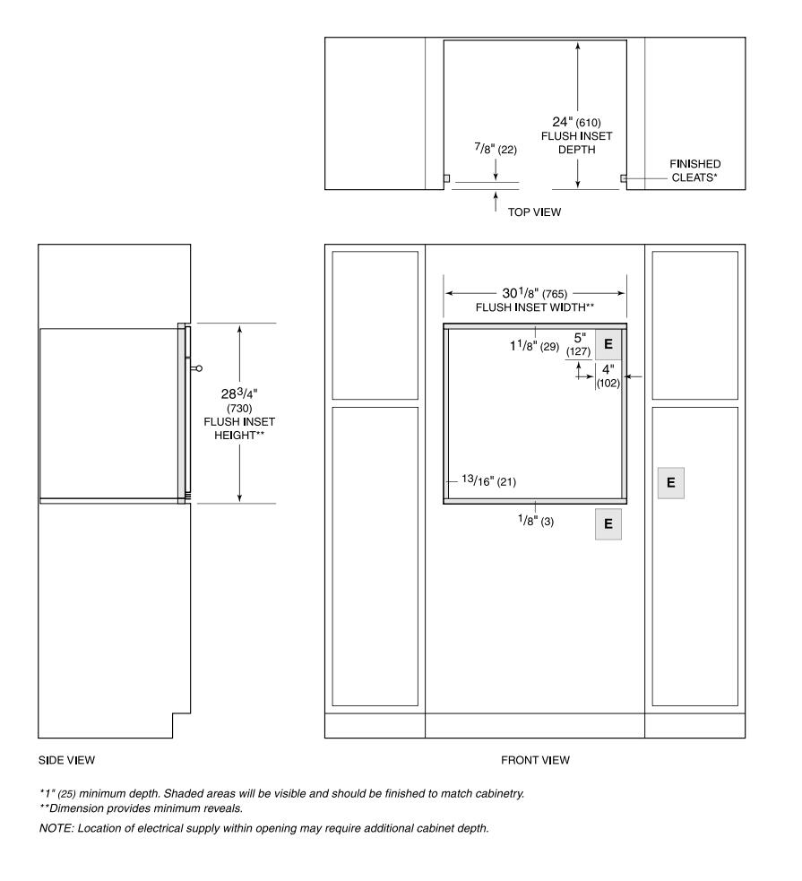 ... Wolf M Flush Installation Cutout Diagram ...