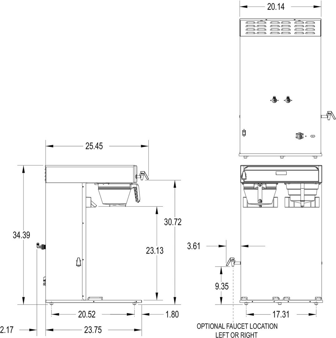 Bunn Brew Phase Wiring Diagram Worksheet And Cw O Matic 431000000 20 1 Inch Countertop Coffee Tea Brewing Rh Appliancesconnection Com Machine Parts Breakdown