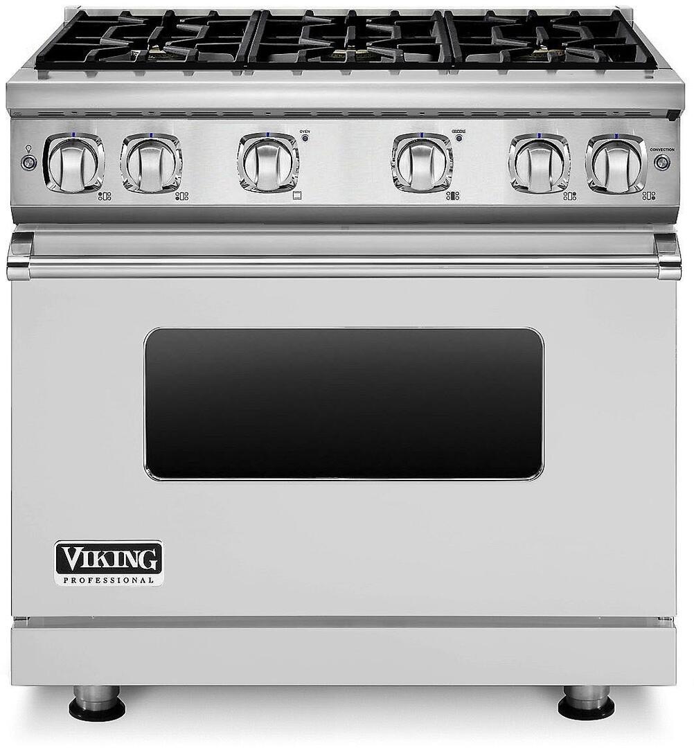 Viking VGR73616BSSLP 36 Inch 7 Series Gas Freestanding Range with ...