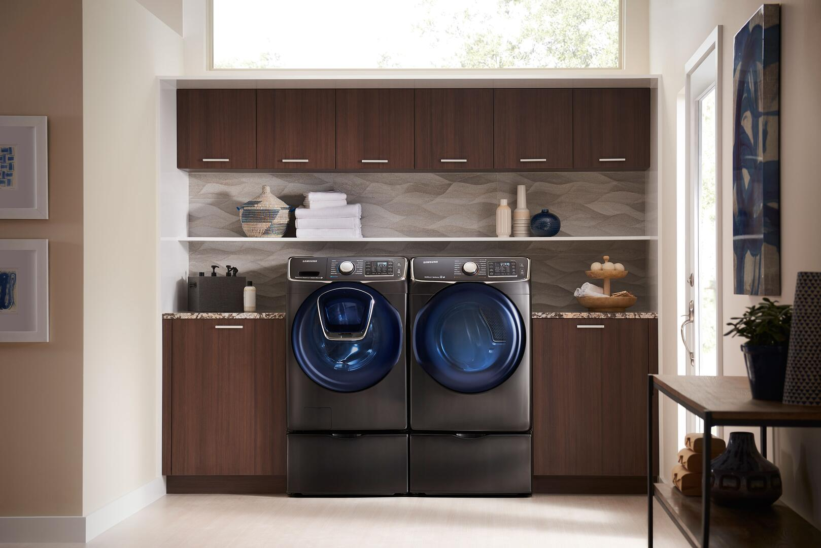 Samsung Black Stainless Steel Sample Laundry