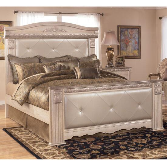 signature design by ashley silverglade 3 piece queen size bedroom set