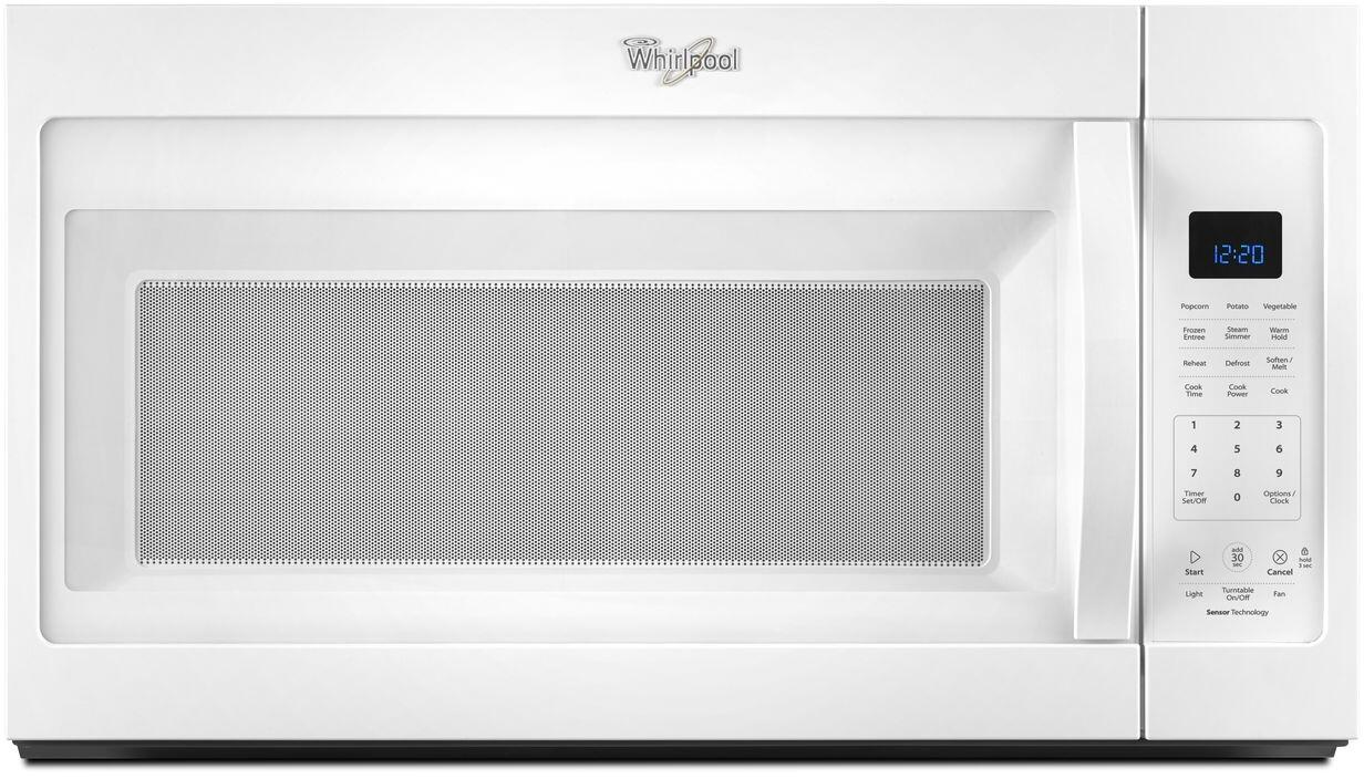 Whirlpool Wmh32519fw 1 9 Cu Ft Over The Range Microwave