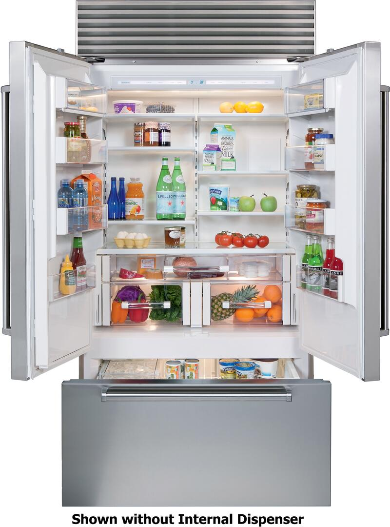Sub zero counter depth refrigerator -  Sub Zero Professional Handles Interior View