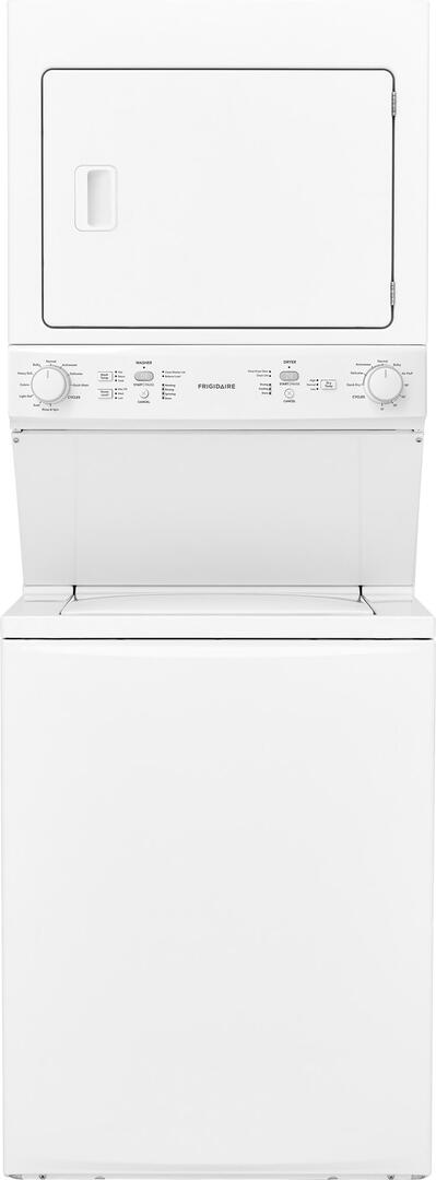 Frigidaire FFLE3900UW 27 Inch Electric Laundry Center with 3 9 cu  ft   Washer Capacity