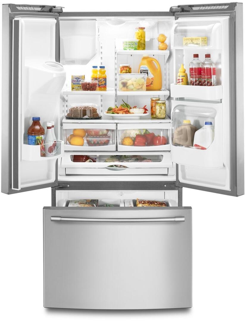 Maytag MFI2269FRZ 33 Inch French Door Refrigerator with 21.71 cu ...