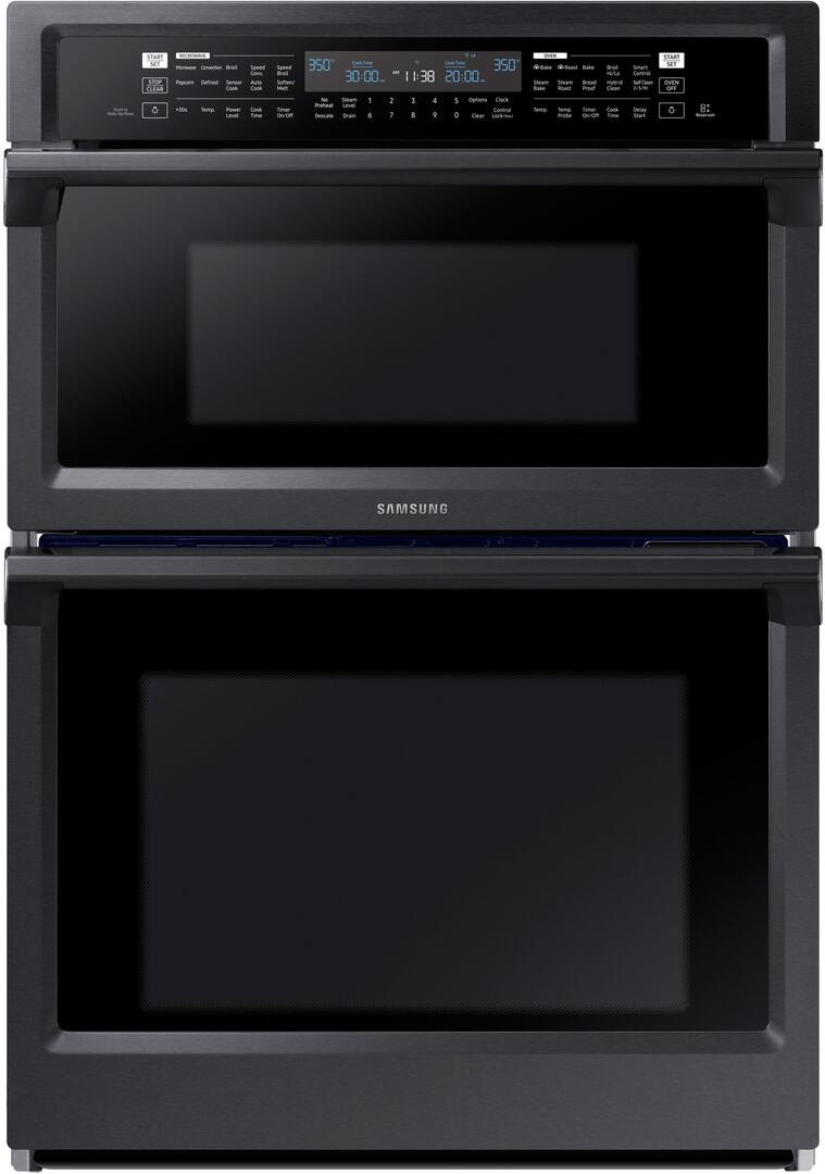 Samsung NQ70M6650DG 30 Inch Electric Double Wall Convection Steam  Oven/Microwave Combo