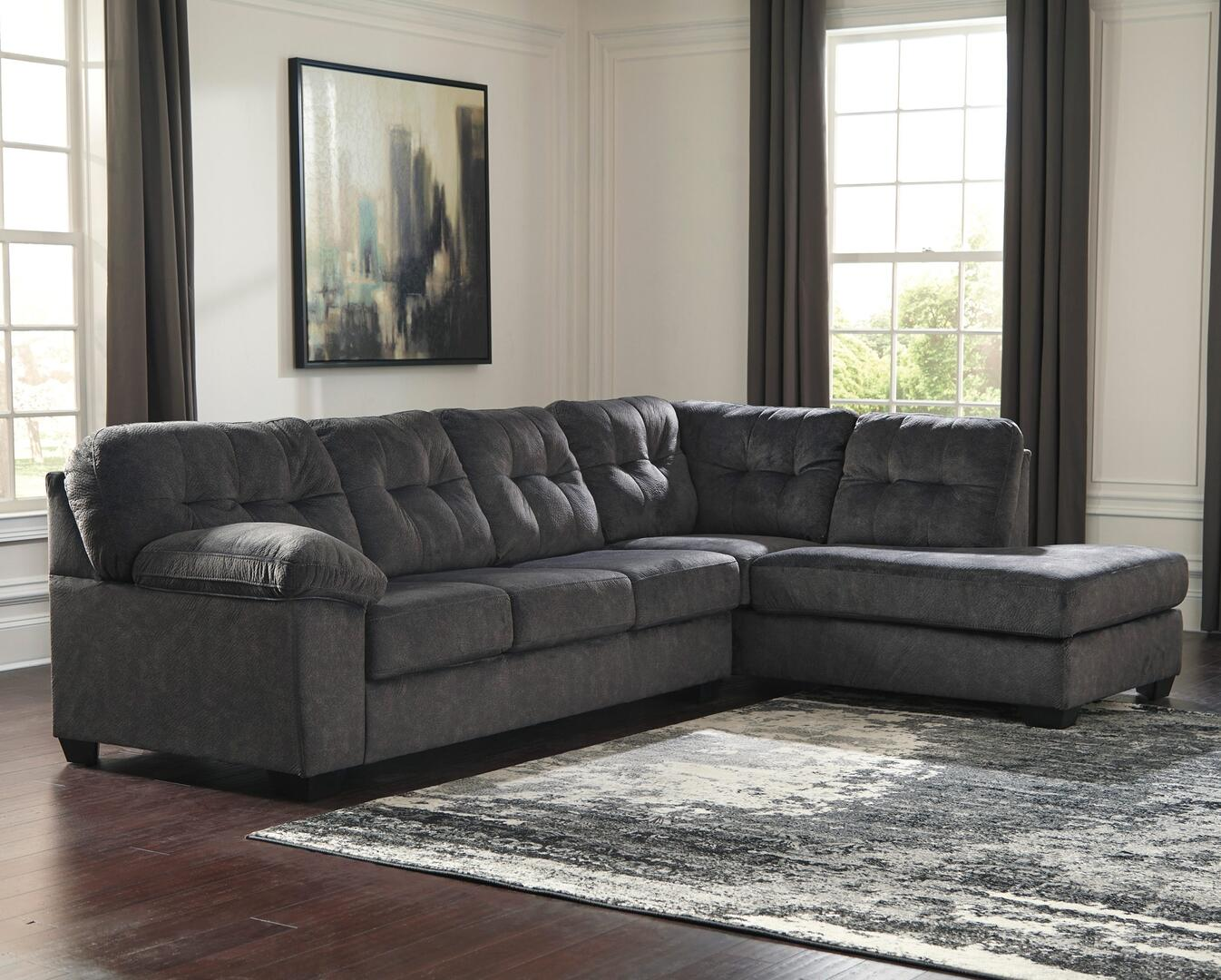 Signature Design By Ashley 705096617 Accrington Series Sofa And Chaise Fabric Sofa Appliances