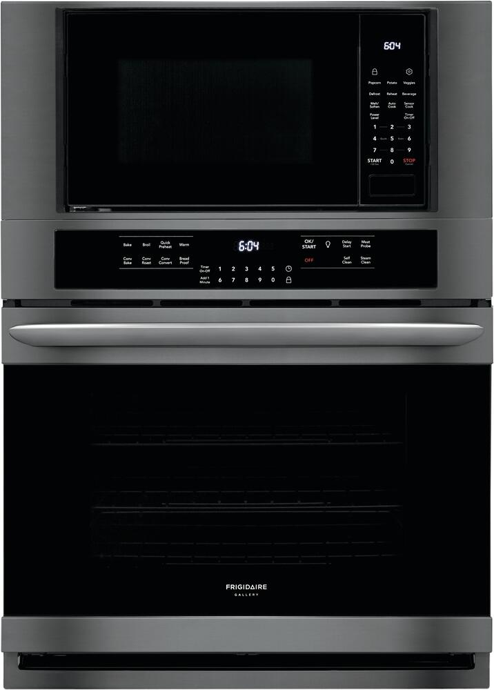Frigidaire Fgmc3066ud Gallery Series 30 Inch Black Stainless Steel Electric Double Wall Convection Oven Microwave Combo