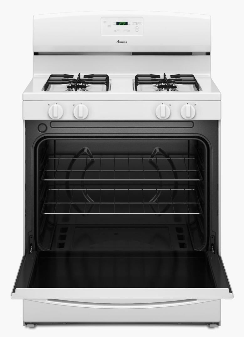Amana Agr5330baw 30 Inch White Gas Freestanding Range With Sealed Stove Wiring Diagram Oven