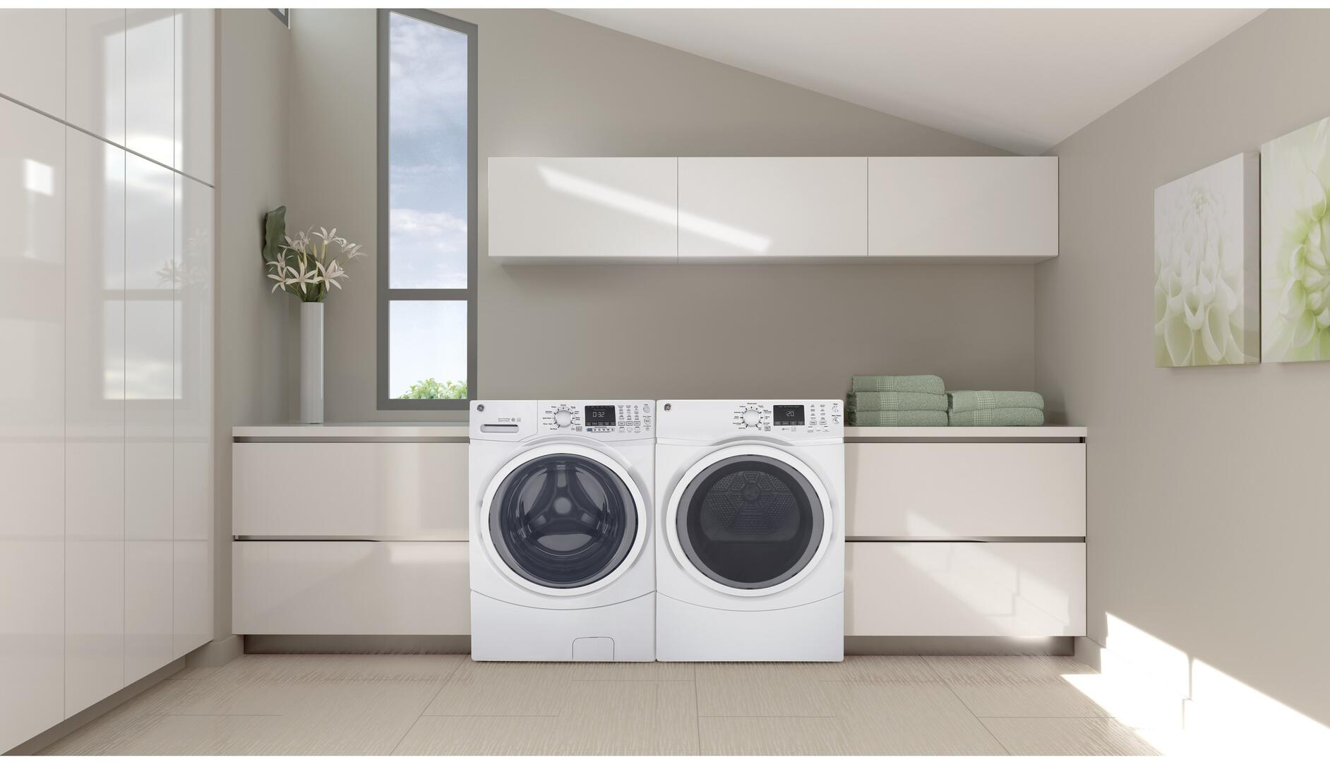 Ge Gfw450ssmww 27 Inch White 4 5 Cu Ft Front Load Washer