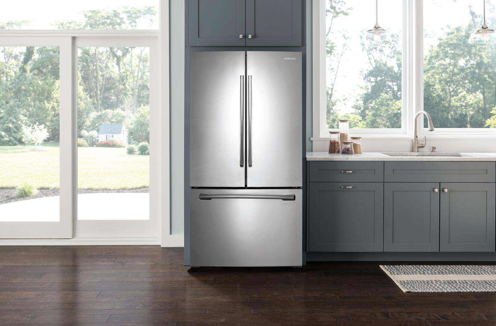 Samsung RF261BEAESR 36 Inch French Door Refrigerator with 25.5 cu ...