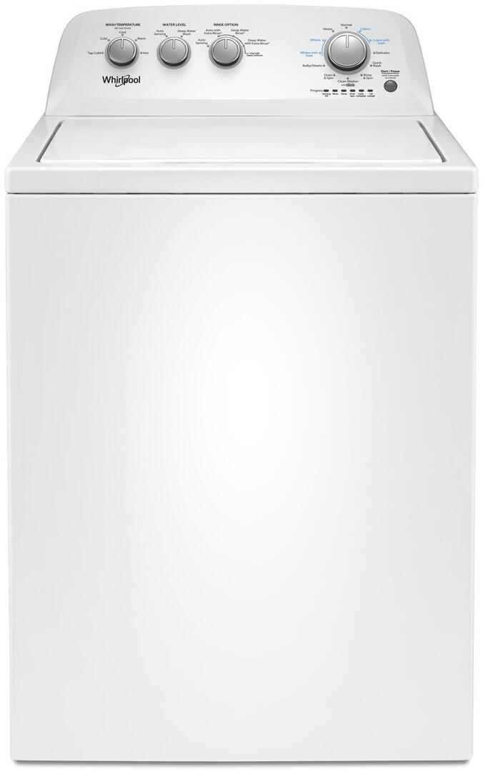 Whirlpool WTW4850HW 3 9 cu  ft  28 Inch Top Load Washer