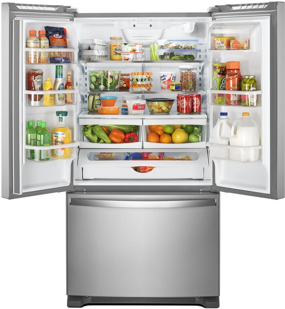 Whirlpool WRF535SWHZ 25.2 Cu. Ft. French Door Refrigerator with Water Dispenser (Stainless Steel)