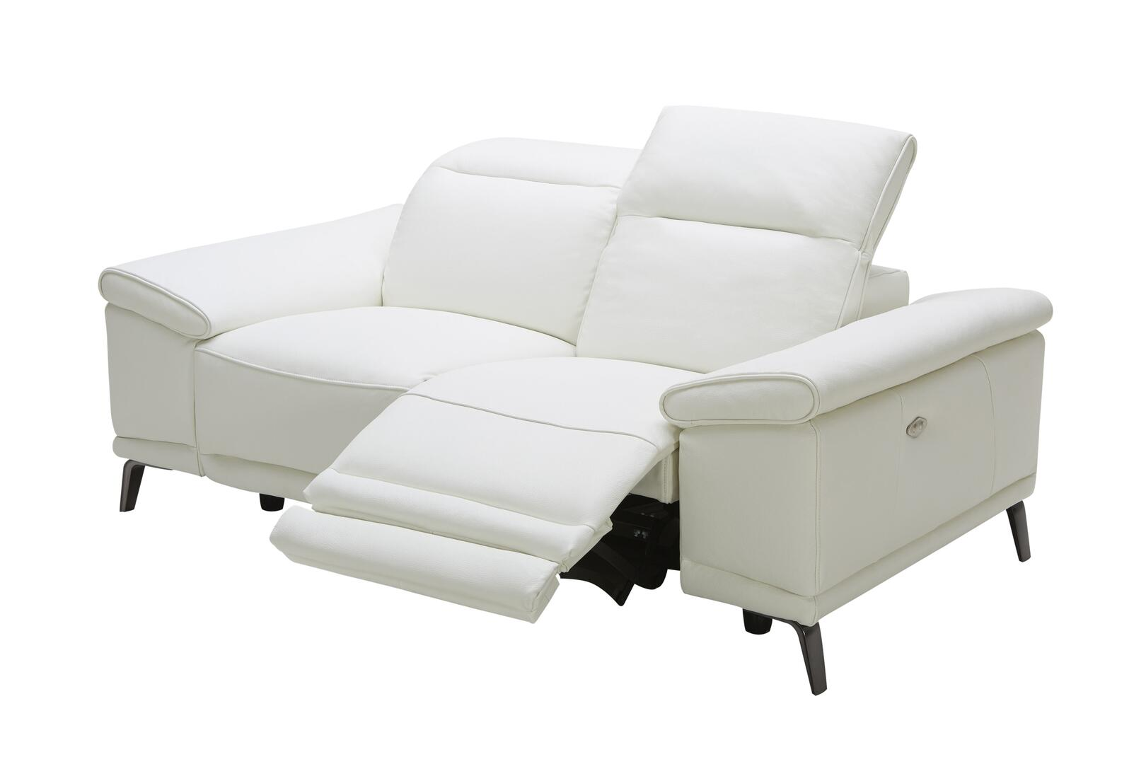 J And M Furniture 18253l Gaia Series Leather Reclining With Wood