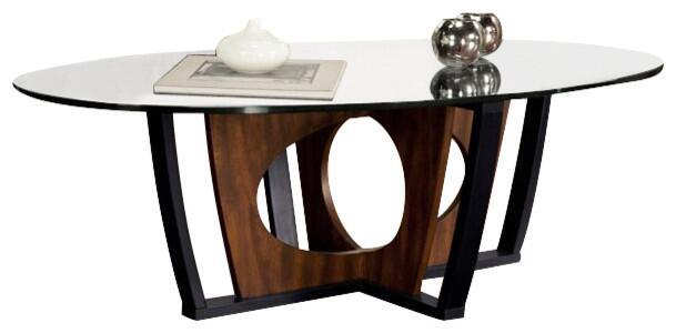 Contemporary Cappuccino Connect It Computer: Armen Living LC6207COBL Espresso Modern Table