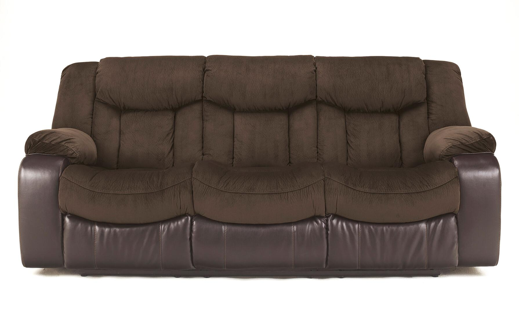 Signature design by ashley tafton 7920x88 reclining sofa for Ashley furniture reclining chaise lounge