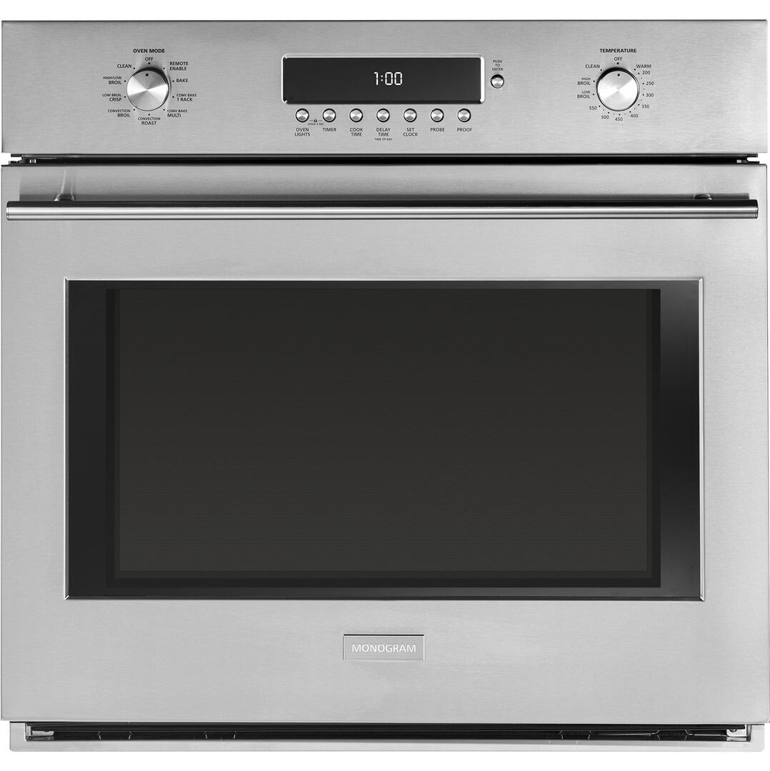 ge monogram zet1fhss 30 inch single wall oven   in stainless steel