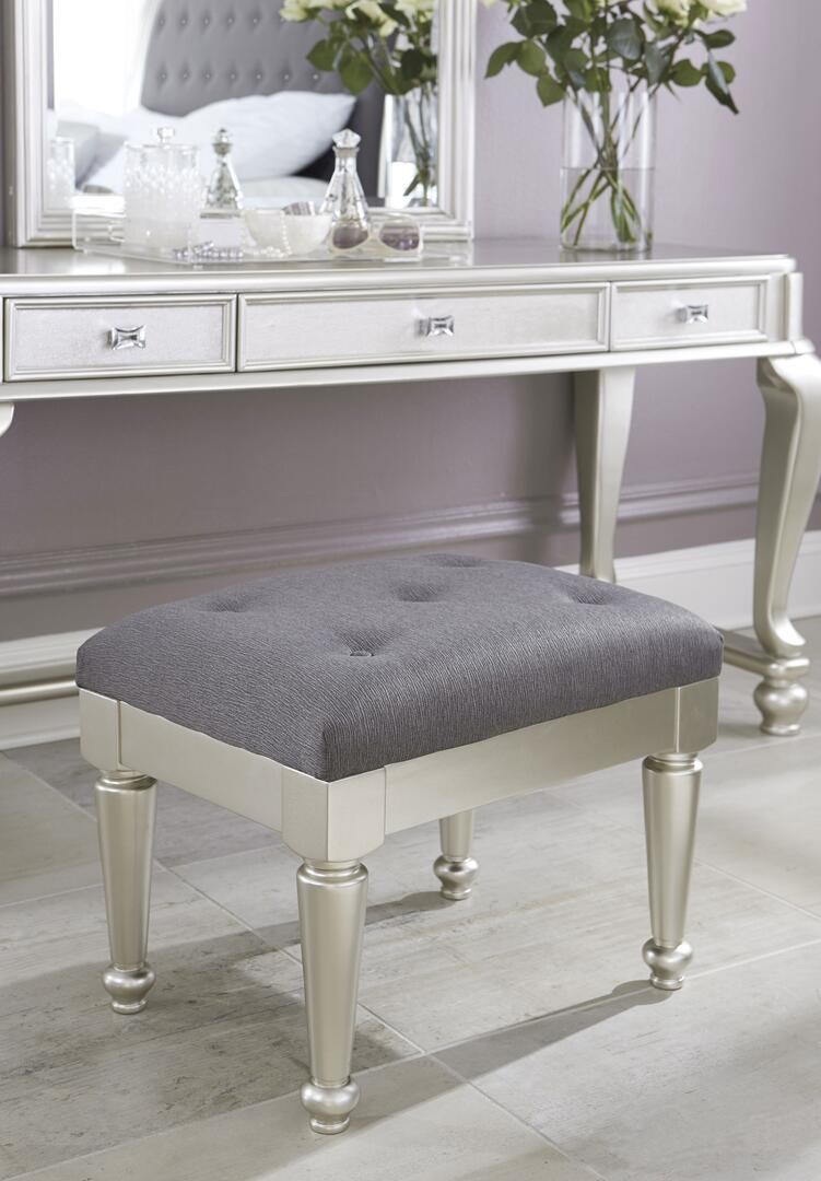 Signature Design By Ashley B65001 Coralayne Series Bedroom Armless Wood Fabric Bench