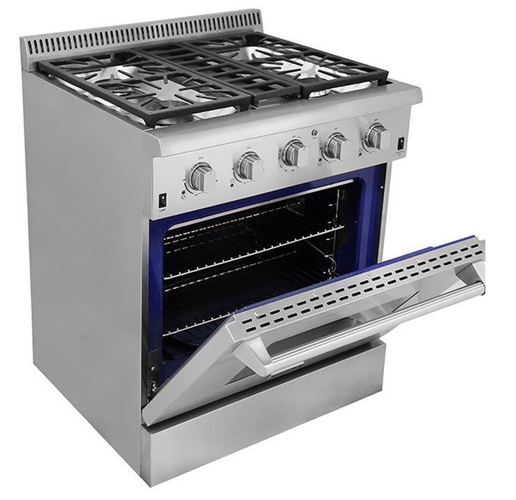 Thor kitchen hrg3031u 30 inch gas freestanding range with for Best slide in gas range under 2000