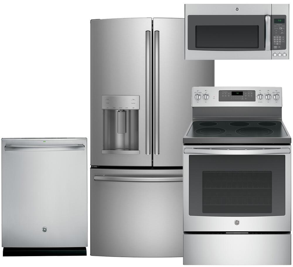 Ge ge4pcfsfd30efisskit1 kitchen appliance packages - Ge kitchen appliances ...