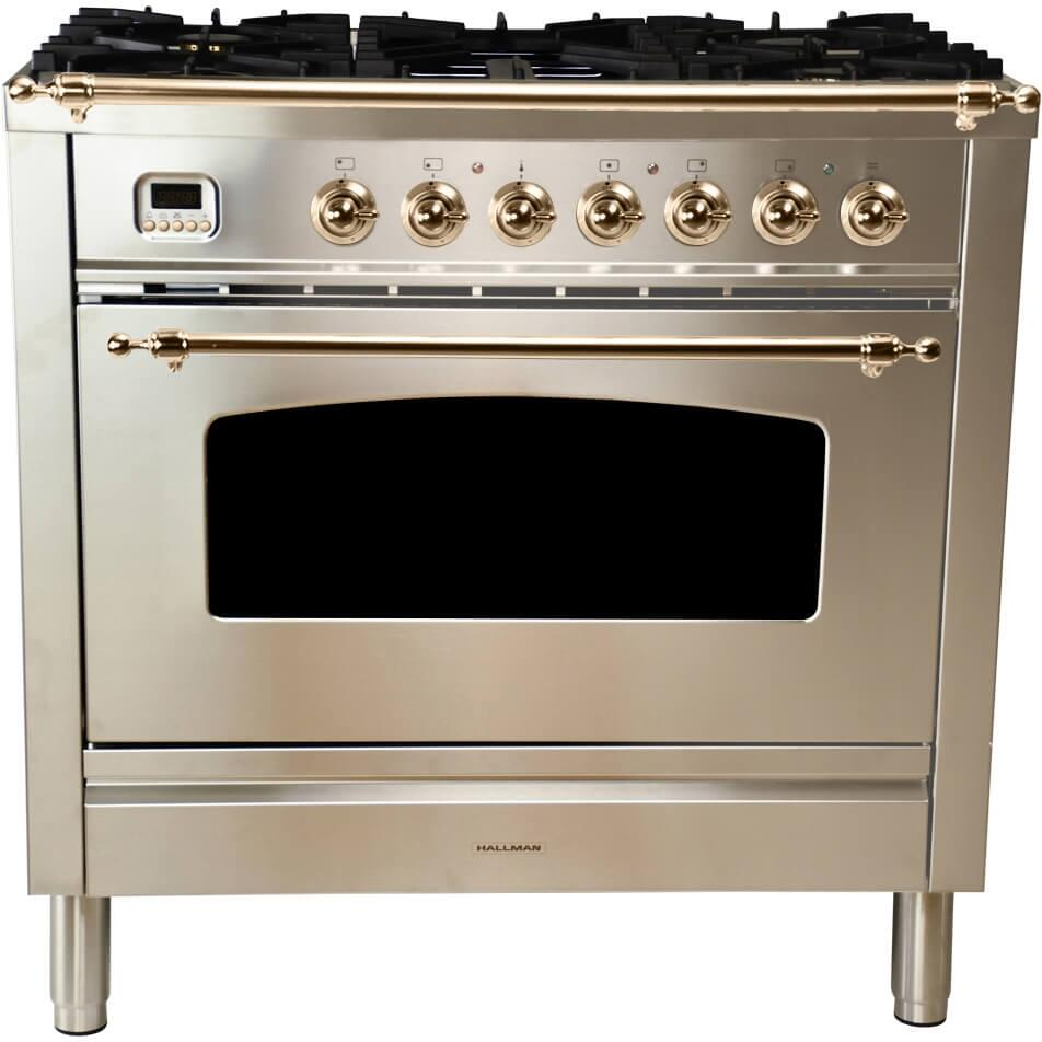 Hallman Hgr36bzsslp 30 Inch Gas Freestanding Range With