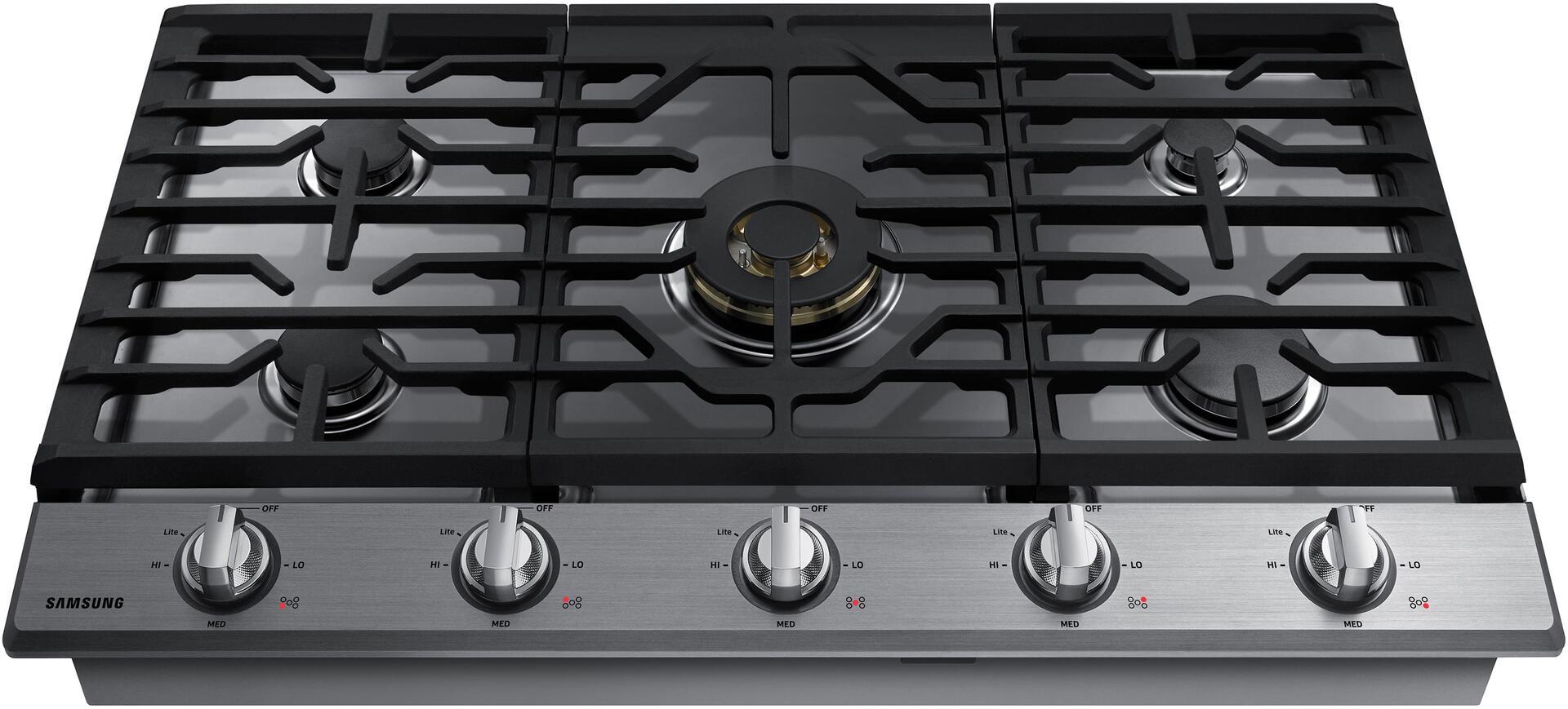 samsung na36k7750ts 36 inch gas sealed burner style cooktop in stainless steel appliances. Black Bedroom Furniture Sets. Home Design Ideas