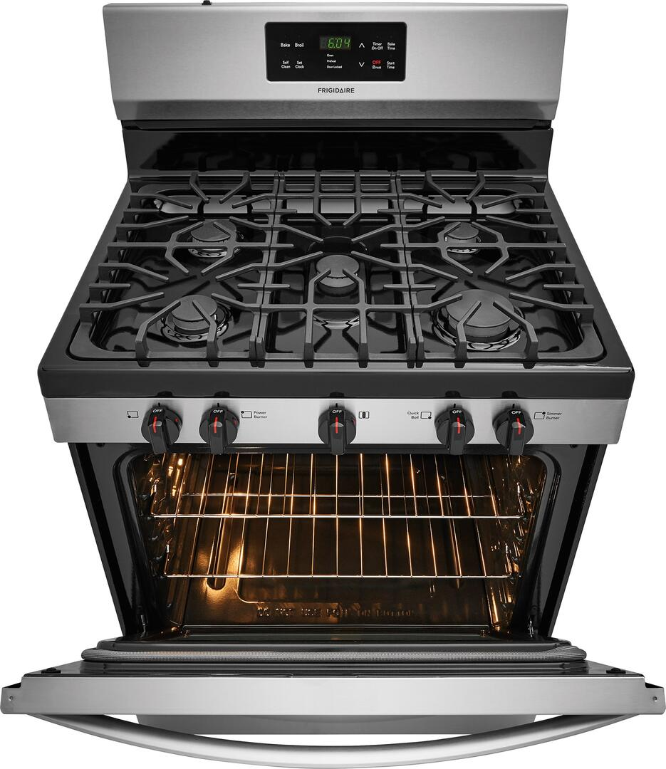 Frigidaire FFGF3054TS 30 Inch Gas Freestanding Range with Sealed ...