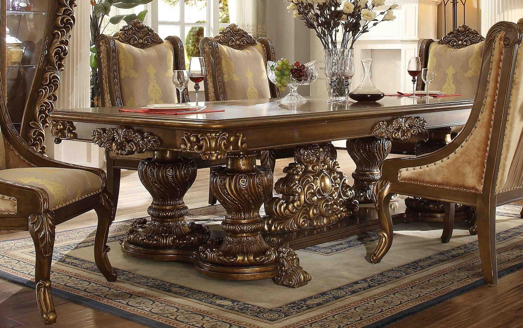 Homey Design Hd 8011 Dining Table Hd8011diningtable Golden Walnut